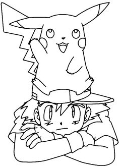 Pikachu And Ash Coloring Page Pokemon Pages
