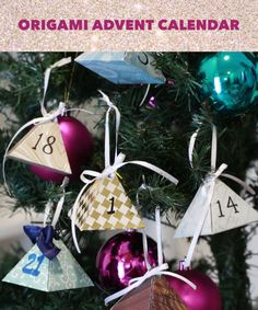 Origami Advent Calendar or Gift wrapping idea Holiday Crafts, Fun Crafts, Diy And Crafts, Crafts For Kids, Paper Crafts, Holiday Fun, Christmas Holidays, Christmas Decorations, Christmas Ornaments