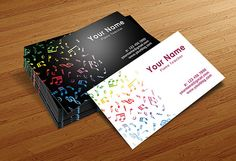 Musician Business Cards Templates