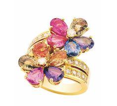 Bulgari Sapphire Flower series Sapphire diamond ring