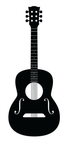 Wall Vinyl Guitar decal. Guitar Illustration by MixtureSigns