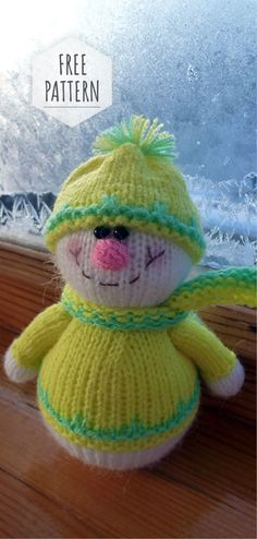Bonnet de Père Noël Knitting Pattern Gingerbread Man Noël Pudding Chocolat Orange Cover