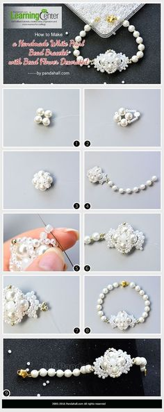 How to Make a Handmade White Pearl Bead Bracelet with Bead Flower Decorated from LC.Pandahall.com | Jewelry Making Tutorials & Tips 2 | Pinterest by Jersica