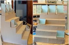 DIY Display Risers for craft fair booth Stall Display, Craft Booth Displays, Display Ideas, Booth Ideas, Display Shelves, Craft Booths, Booth Decor, Display Stands, Window Displays