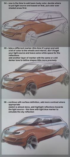 How to draw cars sketch tutorial