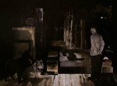 """Adrian Ghenie (Born in Baia Mare, Romania, 1977) """"The Hit"""", 2007, oil on canvas, 52 X 80 cm""""Anxious to jump"""" 118X79 cm, oil on canvas 2007 """"crawl under your desk..."""", 91x80, oil on canvas, 2007 """"Da"""