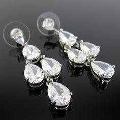 d3ce02fae555 Aretes mujer piedras semipreciosas mineral de zircon con baño de rodio  color plata finas joyas de