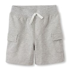 Newborn Baby Boys Knit Cargo Shorts - Gray - The Children's Place
