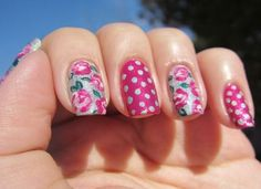 34 Beautiful Pastel Nails Design With Flowers | See more at http://www.nailsss.com/colorful-nail-designs/2/