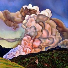 Rita Angus Scrub burning, Northern Hawke's Bay 1965 oil on board Auckland Art Gallery Toi o Tāmaki purchased 1966 X 23, Auckland Art Gallery, Oil Painting Gallery, New Zealand Art, Nz Art, Elements Of Art, Art Reproductions, Landscape Paintings, Abstract Paintings