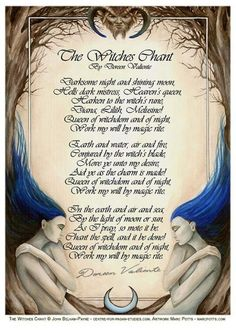"Books of Shadows:  ""The Witches Chant,"" by Doreen Valiente."