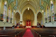 Saint Peter & Paul Catholic Church in Chattanooga, TN - My church which is now a Basilica-Sooooo beautiful !