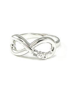 Gamma Phi Beta Sterling Silver Infinity Ring
