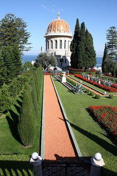 Baha'i Shrine and Gardens, Haifa, Israel (I usually got off the bus across the street from here when I visited Haifa)