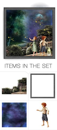 """Sneaking out to collect fireflies"" by barebear1965 ❤ liked on Polyvore featuring art"