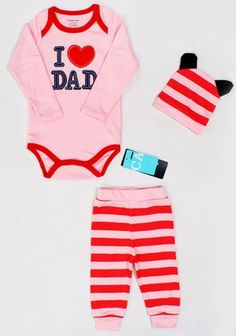 6f6f5c0e7576 Caluby PINK I Love Dad 3 Pieces Set - 18 - 24 Months  lepetite