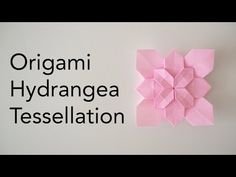 Origami Hydrangea Tessellation Tutorial - How to make and add layers (ASMR Paper Folding) Origami Wall Art, Origami Quilt, Origami Paper Art, Origami Flowers Tutorial, Origami Instructions, Flower Tutorial, Origami Ball, Origami Boxes, Dollar Bill Origami