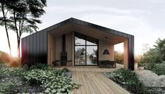 Our dream house // deco maison / architecture / home decor // Black And White House With Moments Of Kid-Friendly Quirky Decor Design Exterior, Modern Exterior, Shed Homes, Forest House, Modern Barn, House In The Woods, Modern House Design, Modern Wood House, Modern Bungalow