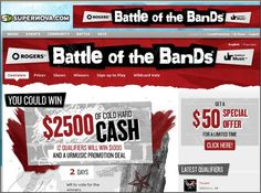 Rogers Battle of the Band Web Site