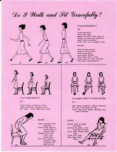 How to walk and sit like a lady