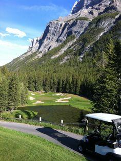 Golfing at the Banff Springs Hotel Golf Course. Banff, Alberta, Canada
