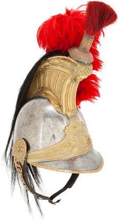 Militaria:Helmets, French Second Empire Cuirassier Helmet. Second Empire, French Empire, French Army, Military Uniforms, British Army, Headgear, Victorian Era, 19th Century, Helmet