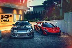 Toyota Supra or McLaren P1? Choose one !!! Source: https://www.instagram.com/marcel_lech/