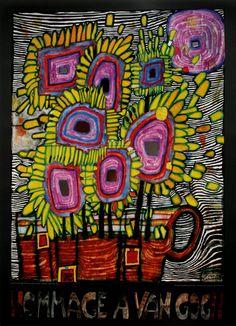 1000 images about friedrich hundertwasser on pinterest for Arthouse jardin wallpaper