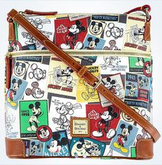 Disney Dooney & Bourke Mickey Crossbody Letter Carrier New with Tags