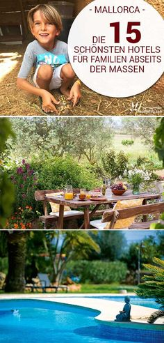 Are you still looking for the perfect hotel for your next holiday with the whole family on Mallorca? We have chosen the most beautiful family hotels for you - no matter if you want to spend your holidays on a farm, on the beach or in the middle of the isl Holiday Meme, Next Holiday, Hotel Familiar, Kid Friendly Resorts, Farm Holidays, Great Hotel, Majorca, Travel Memories, Beautiful Family