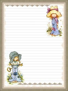imagenes de sarah kay - Pesquisa Google Lined Writing Paper, Paper Art, Paper Crafts, Free Printable Stationery, Notebook Paper, Holly Hobbie, Stationery Paper, Note Paper, Planner Pages