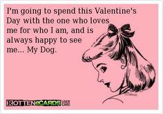 My dog is my Valentine!!