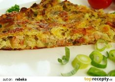 Quiche, Zucchini, Pizza, Food And Drink, Veggies, Cooking Recipes, Treats, Baking, Breakfast