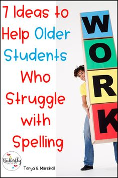 Spelling reading and writing go hand-in-hand. Help older students who struggle with spelling by incorporating some of these ideas! FREE Spelling Practice worksheets included in the post! Spelling Task Cards, Spelling Word Activities, Spelling Word Practice, Spelling For Kids, Spelling Worksheets, Spelling Rules, Grade Spelling, Phonics Activities, Spelling Ideas