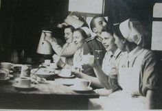 A Wehrmacht soldier with DRK nurses