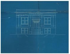 Throwback Thursday! This is the original blueprint of the Carnegie Library on Denton Street in Gainesville!