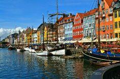 colorful places.Nyhavn Copenhagen, Denmark