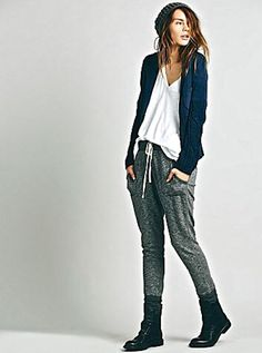 NEW Free People navy blue Mixed Fleece & Cable Sweater Jacket M $148 #FreePeople #sweaterjacket
