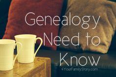 8 #Genealogy Things You Need to Know Today, Wednesday, 4 June 2014, via 4YourFamilyStory.com. #needtoknow #familytree