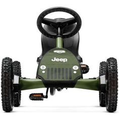 Licensed by Jeep, this kart is made for the outdoors. Knobby pneumatic tires keep rolling for adventures on or off road. The ideal first Jeep. Combine the thrill of off-roading with the benefits of ex