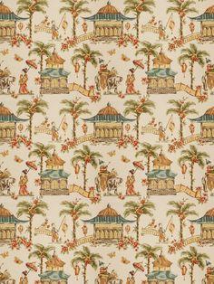 5858601 Mougin Chestnut by Fabricut Asian Upholstery Fabric, Asian Fabric, Chinoiserie, Fabric Decor, Fabric Design, Watercolor Fabric, Fabricut Fabrics, Fantasy House, Fabric Wallpaper