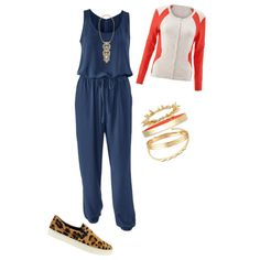CAbi French Navy Jumpsuit