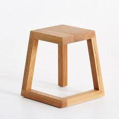 Legless stool, designed by Josh Carmody Kitchen Step Stool, Stools For Kitchen Island, Island Bar, Kitchen Cabinets, Wood Bar Stools, Wood Stool, Rattan Stool, Diy Stool, Counter Stools