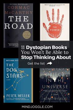 Love a good dystopian novel? You won't be able to stop thinking about the dystopias on this book list from Mind Joggle. These dystopian and speculative fiction books are perfect if you're looking for a creepy, intriguing read. #books #dystopias #booklist