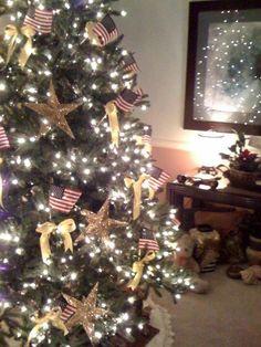 Patriotic Christmas tree