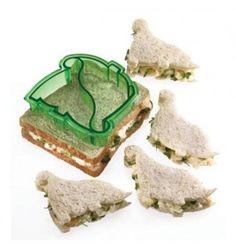 Cortador con forma de dinosaurios. Corta el sandwich con forma de 2 dinosaurios - cocina para niños