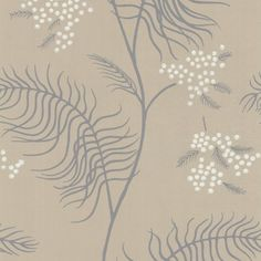 Papier peint fleurs beige  MIMOSA - Cole and Son - Au fil des Couleurs