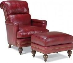Whittemore Sherrill Limited   Lounge Chair #1253 01   Matching Ottoman  #1253