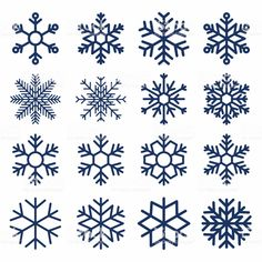 Set of vector snowflakes. Snowflake texture for decoration. Geometric snow symbol royalty-free set of vector snowflakes snowflake texture for decoration geometric snow symbol stock vector art more images of snowflake Christmas Doodles, Christmas Drawing, Christmas Art, Christmas Decorations, Christmas Ornaments, Xmas, Christmas Snowflakes, Snowflake Images, Snowflakes Art