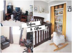 Transform a tiny spare room into a beautiful baby sanctuary.